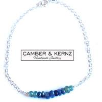 Shaded Sapphire .925 Sterling Silver Bracelet