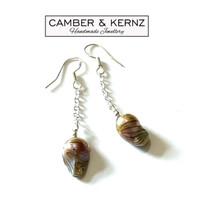 Keshi Pearl .925 Chain Drop Earrings