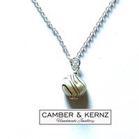 """SOLD - Keshi Pearl .925 Pendant on 20"""" Sterling Silver chain"""