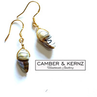 SOLD - Keshi Pearl .925 Sterling Silver Gold Plated Earrings