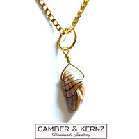 """SOLD - Keshi Pearl .925 Sterling Silver Gold Plated Pendant on 27"""" Gold Filled Chain"""