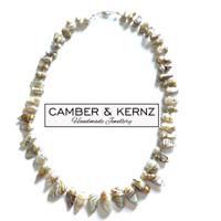 Keshi Pearl .925 Sterling Silver Collar
