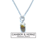 "Keshi Pearl .925 Pendant on 20"" Sterling Silver belcher chain"
