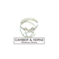 SOLD - Sterling Silver Infinity Knot Ring Size W