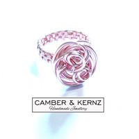 SOLD - Rose Gold Coloured Freeform Ring size O.5