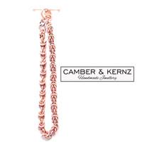 "Byzantium Chainmaille Aged Copper Bracelet 8"""