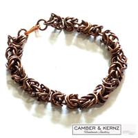 SOLD - Byzantium Design Chainmaile 7mm link Bracelet