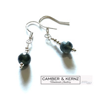 Labradorite 4mm Round Faceted .925 Sterling Silver Earrings