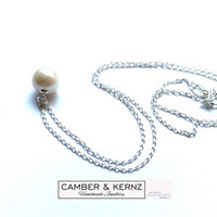 "9mm Round White Pearl .925 Sterling Silver Pendant & 18"" Chain"