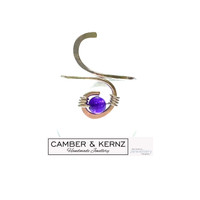 .925 Sterling Silver Adjustable Zambian Amethyst Ring - Med to XL
