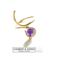 SOLD - Gold Filled Amethyst Curve Ring