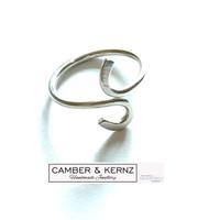 .925 Sterling Silver (1.8mm) Adjustable Curve Ring Med to Lge