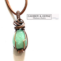Gift - Aventurine & Copper Patina Pendant
