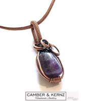 Amethyst & Copper Pendant