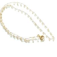 SOLD - Faceted Zircon Rondels & 14k Gold Filled Link Chain