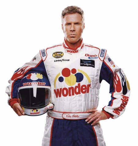 Will Ferrell's Talladega Nights Legend of Ricky Bobby race suit