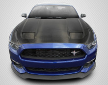 2015 Ford Mustang  Hood-2015-2017 Ford Mustang Carbon Creations DriTech MK7 Look Hood - 1 Piece