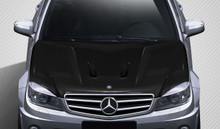 2011 Mercedes C63  Hood-2008-2011 Mercedes C63 W204 Carbon Creations Black Series Look Hood - 1 Piece