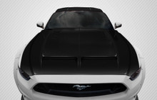 2015 Ford Mustang  Hood-2015-2017 Ford Mustang Carbon Creations GT500 Hood - 1 Piece
