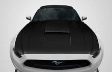 2015 Ford Mustang  Hood-2015-2017 Ford Mustang Carbon Creations CVX Hood - 1 Piece