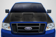 2006 Ford F150  Hood-2004-2008 Ford F-150 / 2006-2008 Lincoln Mark LT Carbon Creations DriTech Shark Hood - 1 Piece