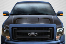 2009 Ford F150  Hood-2009-2014 Ford F-150 Carbon Creations DriTech Ram Air Hood - 1 Piece