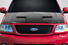 1998 Ford F150  Hood-1997-2003 Ford F-150 / F-250 / 1997-2002 Ford Expedition Carbon Creations CVX Version 3 Hood - 1 Piece