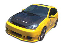 2002 Ford Focus 3DR Kit-2000-2004 Ford Focus ZX3 Duraflex B-2 Body Kit - 4 Piece - Includes B-2 Front Bumper Cover (103279) Evo 3 Side Skirts Rocker P