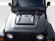2000 Jeep Wrangler  Hood-1997-2006 Jeep Wrangler Duraflex Heat Reduction Hood (fits all models without highline fenders) - 1 Piece