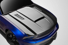 2011 Ford Mustang  Hood-2010-2012 Ford Mustang Carbon Creations CVX Version 3 Hood - 1 Piece