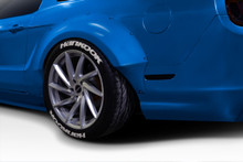2011 Ford Mustang  Fender Flare-2010-2014 Ford Mustang Duraflex Circuit 75 MM Rear Fender Flares - 2-piece