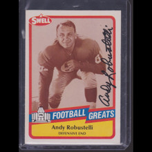Andy Robustelli Autograph - 1989 Swell Greats Football TTM Auto 43 a