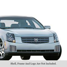 2007 Cadillac CTS   Stainless Steel Billet Grille - APS-GR01FEH12C-2007