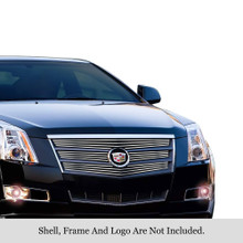 2010 Cadillac CTS   Stainless Steel Billet Grille - APS-GR01FEB57S-2010