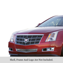 2012 Cadillac CTS   Stainless Steel Billet Grille - APS-GR01FEB58S-2012
