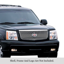 2003 Cadillac Escalade   Stainless Steel Billet Grille - APS-GR01FEG70S-2003