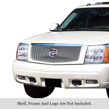 2002 Cadillac Escalade   Stainless Steel Billet Grille - APS-GR01FEG70C-2002