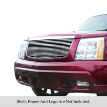 2002 Cadillac Escalade   Stainless Steel Billet Grille - APS-GR01HEC66C-2002