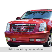 2009 Cadillac Escalade   Stainless Steel Billet Grille - APS-GR01FFD82S-2009