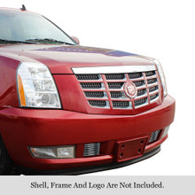 2007 Cadillac Escalade   Stainless Steel Billet Grille - APS-GR01FFD82C-2007