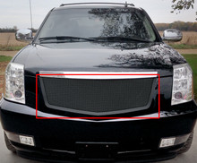 2009 Cadillac Escalade   Black Wire Mesh Grille - APS-GR01GFD62H-2009