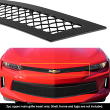 2016 Chevy Camaro 1SS  Black Wire Mesh Grille - APS-GR03GFC65H-2016A
