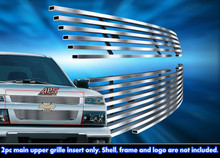 2012 Chevy Colorado   Stainless Steel Billet Grille - APS-GR03FEG47C-2012