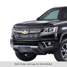 2017 Chevy Colorado   Stainless Steel Billet Grille - APS-GR03FFC16S-2017