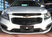 2015 Chevy Cruze   Black Wire Mesh Grille - APS-GR03GFC43H-2015
