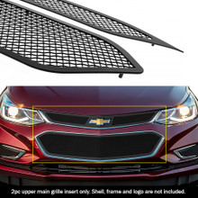 2017 Chevy Cruze   Black Wire Mesh Grille - APS-GR03GFC72H-2017