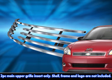 2008 Chevy Impala   Stainless Steel Billet Grille - APS-GR03FEG43C-2008