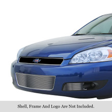 2010 Chevy Impala   Stainless Steel Billet Grille - APS-GR03FEG44C-2010
