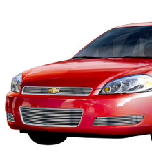 2010 Chevy Impala LS  Stainless Steel Billet Grille - APS-GR03FGG56C-2010B