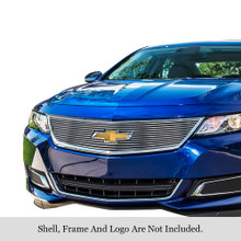 2015 Chevy Impala   Stainless Steel Billet Grille - APS-GR03FEI45C-2015